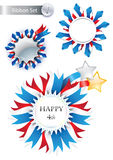 4th July Vector Ribbons very suitable for web site Royalty Free Stock Photos