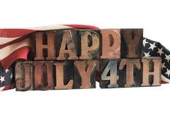 4th lyckliga juli Arkivbild