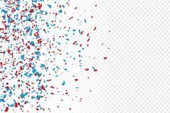 Free 4th Of July American Independence Day Backdrop With Confetti Scattered Paper In Blue, Red, And White Traditional Colors Stock Images - 149663064