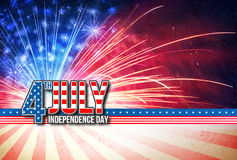 Free 4th Of July - Independence Day Retro Card Royalty Free Stock Photography - 72003687