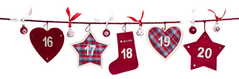 4th part of advent calendar Stock Images