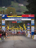 4th round of the 2011-2012 Cyclocross World Cup Royalty Free Stock Images