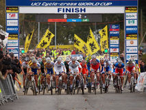 4th round of the 2011-2012 Cyclocross World Cup Royalty Free Stock Photography