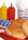 4th tabell för juli picknickinställning Arkivbilder