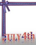 4Th van achtergrond juli grens Royalty-vrije Stock Foto's