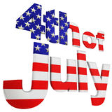 4to. de julio Foto de archivo libre de regalías