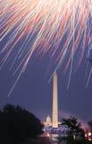 4to de los fuegos artificiales de julio Fotografía de archivo libre de regalías
