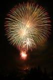 4to de los fuegos artificiales de julio Fotografía de archivo