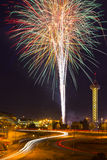 4to de los fuegos artificiales de julio en Denver Fotografía de archivo libre de regalías