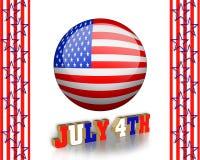 4to del arte de clip de julio Imágenes de archivo libres de regalías