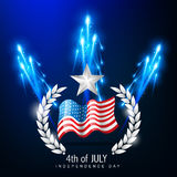 4to del Día de la Independencia de julio libre illustration
