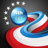 4to del Día de la Independencia del americano de julio ilustración del vector
