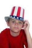 4to del muchacho de julio fotos de archivo libres de regalías