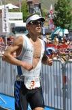 4to Triathlon 2009, Francia del d'Huez de FED Alpe. foto de archivo libre de regalías