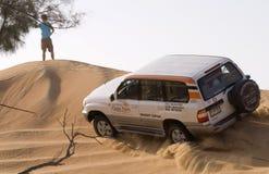4wd沙漠徒步旅行队 免版税库存图片