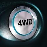 4WD bottone, azionamento di quattro Weel, interruttore 4x4 Immagini Stock Libere da Diritti
