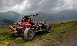 4wd buggy for extreme off-road shot on mountain Stock Photo