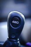 4WD Gear Shifter. Four wheel drive gear shifter in truck Royalty Free Stock Photo