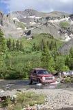 4WD rotsachtige Bergen Colorado Stock Fotografie