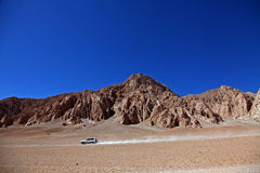 4WD Travel. In North Tibetan Plateau Stock Photography