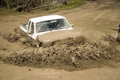 4x4 action. Through a huge mud hole Stock Images