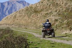 4x4 ATV In The Mountains Stock Photography