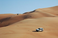 4x4 dune bashing Royalty Free Stock Photo