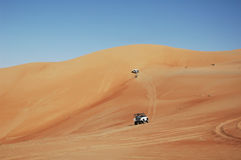 4x4 dune bashing royalty free stock photography