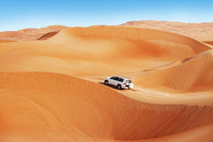 4x4 dune bashing is a popular sport of the Arabian Royalty Free Stock Photo