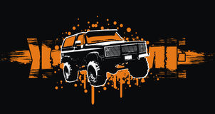4x4 extreme. Vector illustration off-road car with grunge background Vector Illustration