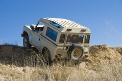 4x4  extreme driving. Enjoying driving a classic 4x4 car off road Royalty Free Stock Photos