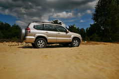 4x4 golden on the hill Royalty Free Stock Photo
