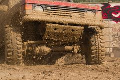 4x4 mud. Out of a muddy hole Royalty Free Stock Photos