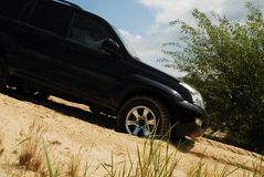 4x4 na areia Imagens de Stock