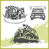 4x4 Off-Road Symbol. Off-road, racing avtomobil.Gonki, competition Vector Illustration