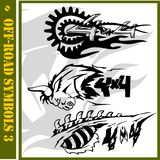 4x4 Off-Road Symbol. Racing cars 4x4, extreme sports Vector Illustration