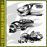 4x4 Off-Road Symbol. Racing cars 4x4, extreme sports Royalty Free Illustration