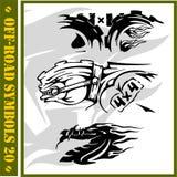 4x4 Off-Road Symbool. Royalty-vrije Stock Afbeeldingen