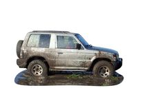 4x4 off road vehicle Stock Photo