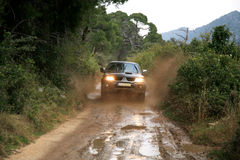 4x4 off-roading in Croatia. Royalty Free Stock Image