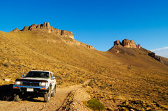 4x4 in Patagonia. 4x4 adventure in patagonia desert Royalty Free Stock Photos