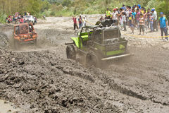 4X4 Racers through mud in Ecuador Royalty Free Stock Photography