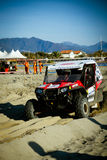 4x4 racing on the beach Stock Photos