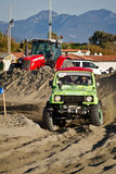 4x4 racing on the beach Royalty Free Stock Photos