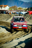 4x4 racing on the beach Royalty Free Stock Image