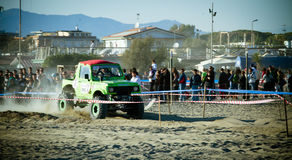4x4 racing on the beach Royalty Free Stock Photo