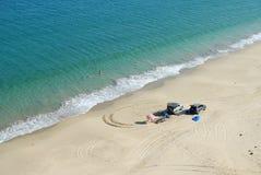 4x4 sulla spiaggia Fotografia Stock Libera da Diritti