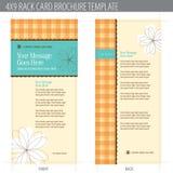 4x9 brochure card rack template Στοκ Φωτογραφίες