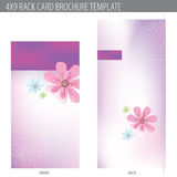 4x9 Rack Card Brochure Template Stock Photography
