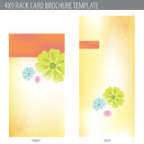 4x9 Rack Card Brochure Template. (includes cropmarks, bleeds, and keyline vector illustration
